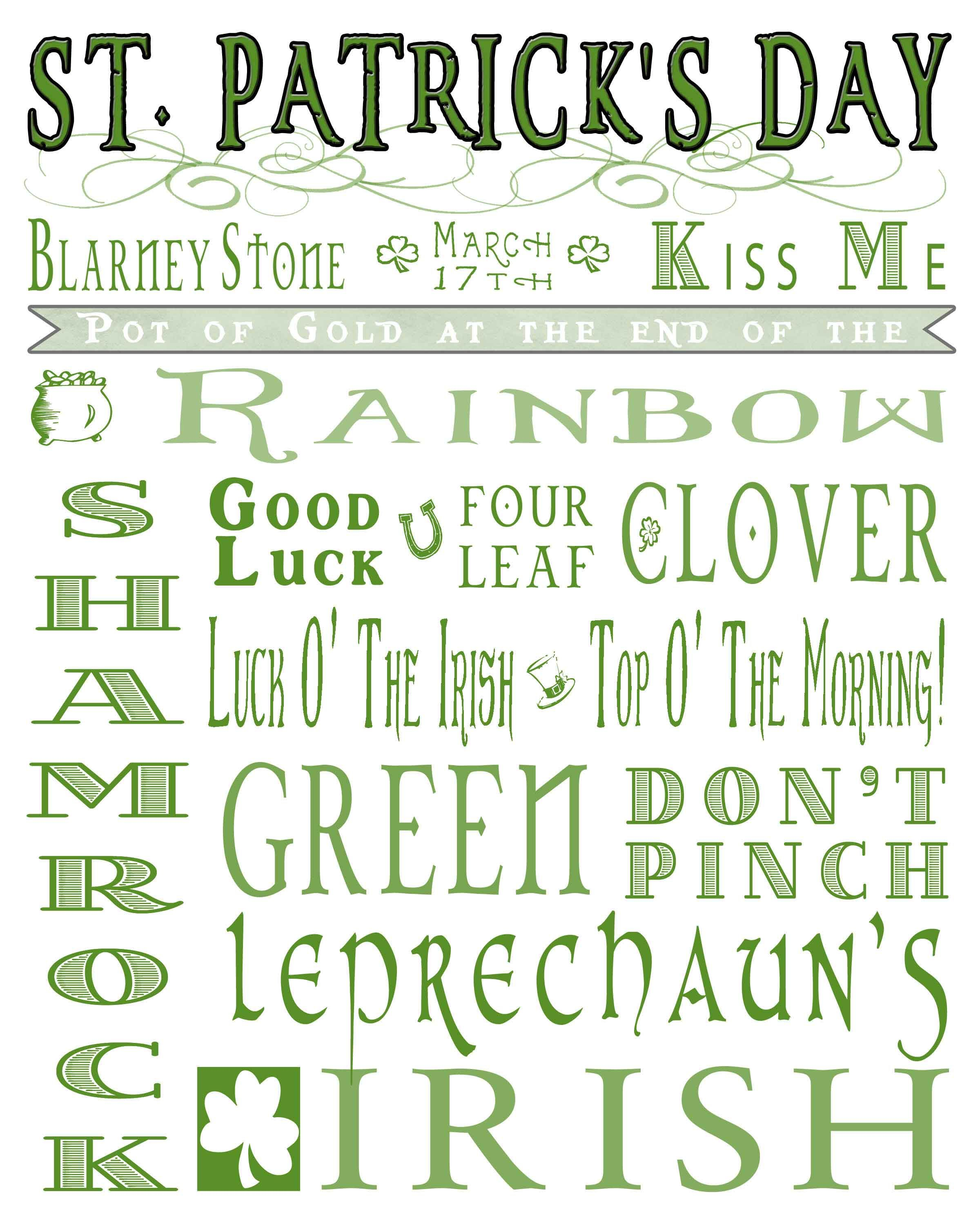 St Patrick S Day Printables