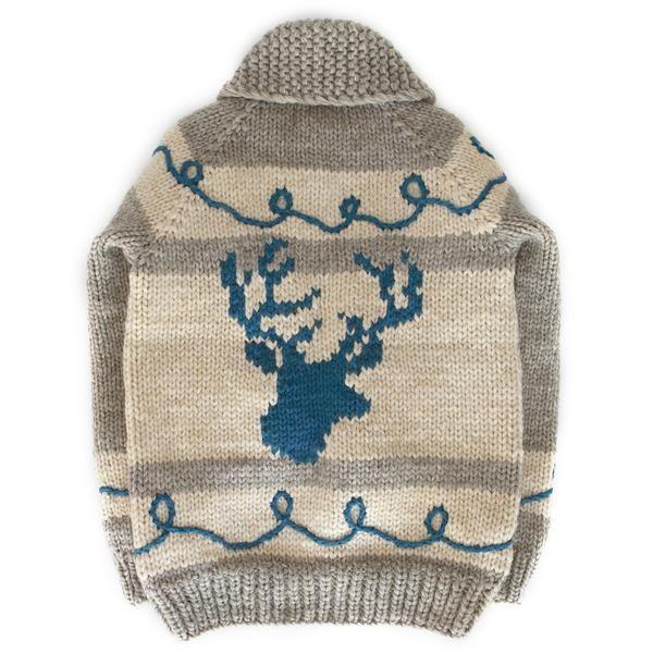 Graphic Deer Head - Aqua Blue