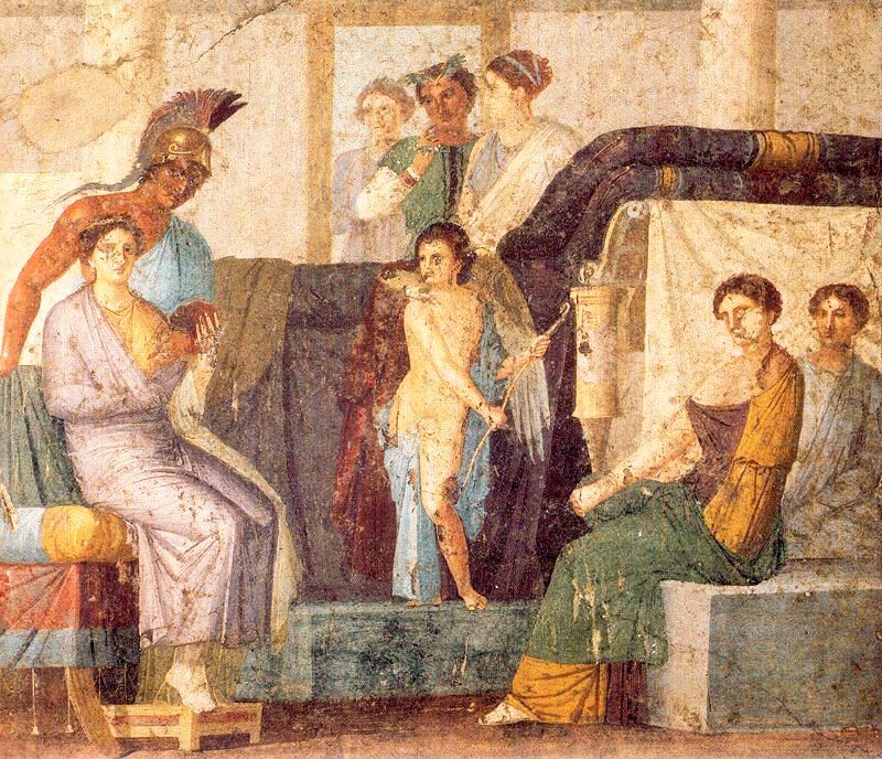 Los amores de Venus y Marte ilustra el uso de la perspectiva intuitiva por parte de los artistas romanos
