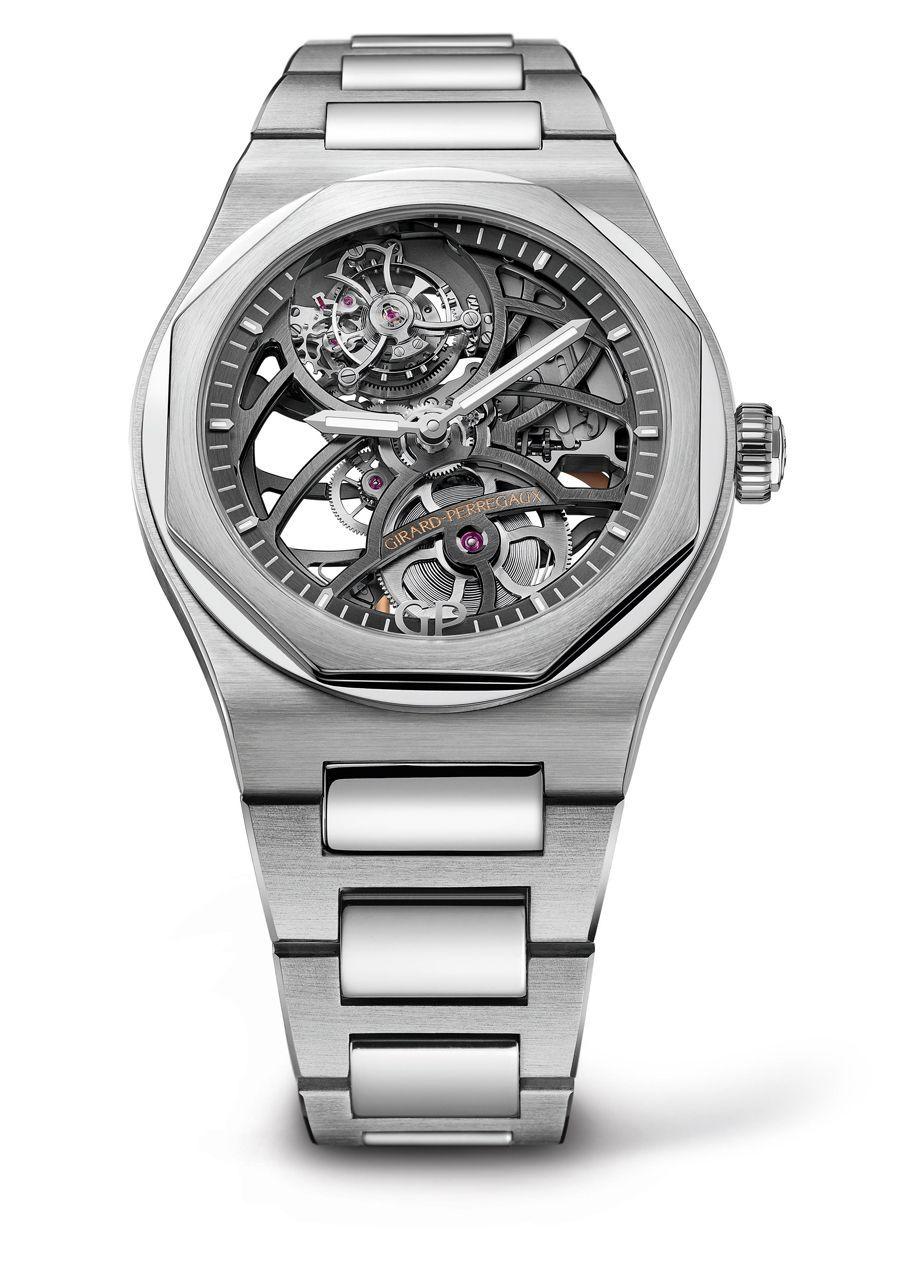 92d969851e9 Girard-Perregaux lanciert die Laureato Flying Tourbillon Skeleton. Die neue  skelettierte Uhr mit fliegendem