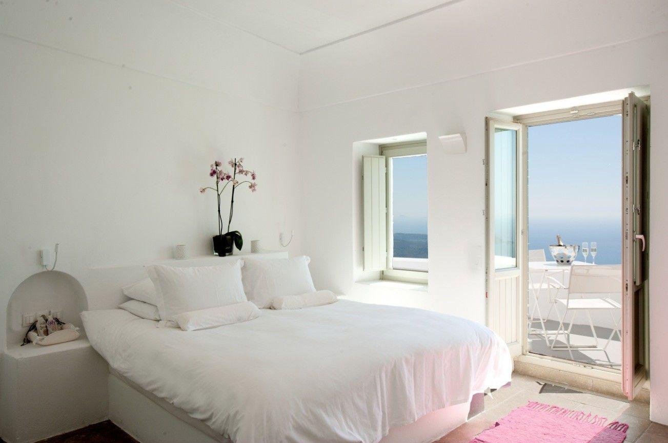 Wonderful Santorini Grace White Bedroom With Balcony
