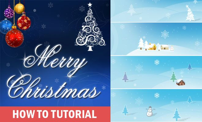 How to Create a Beautiful Christmas Greeting Card Design Make your