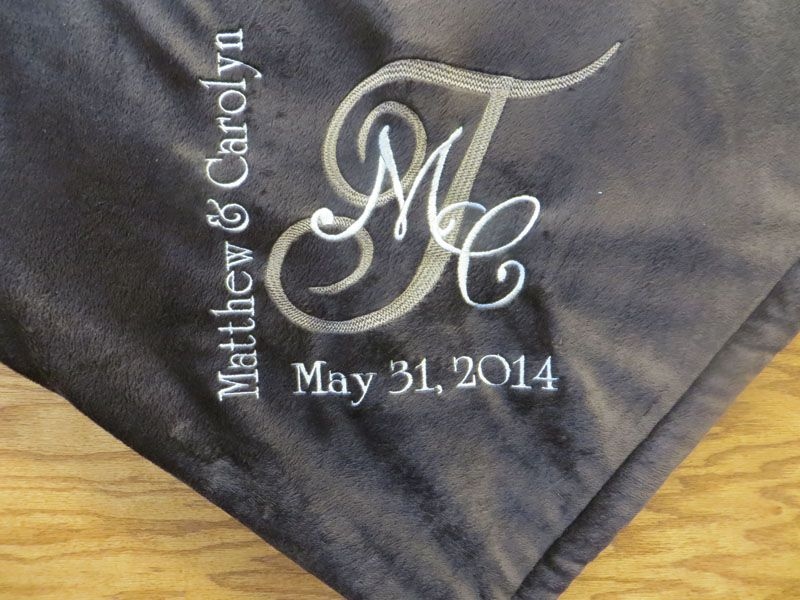Wedding Gift Ideas Personalized Throws In Ohio
