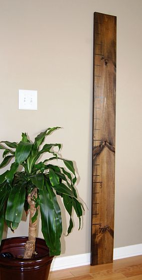 Diy Over Sized Ruler Growth Chart Pottery Barn Inspired