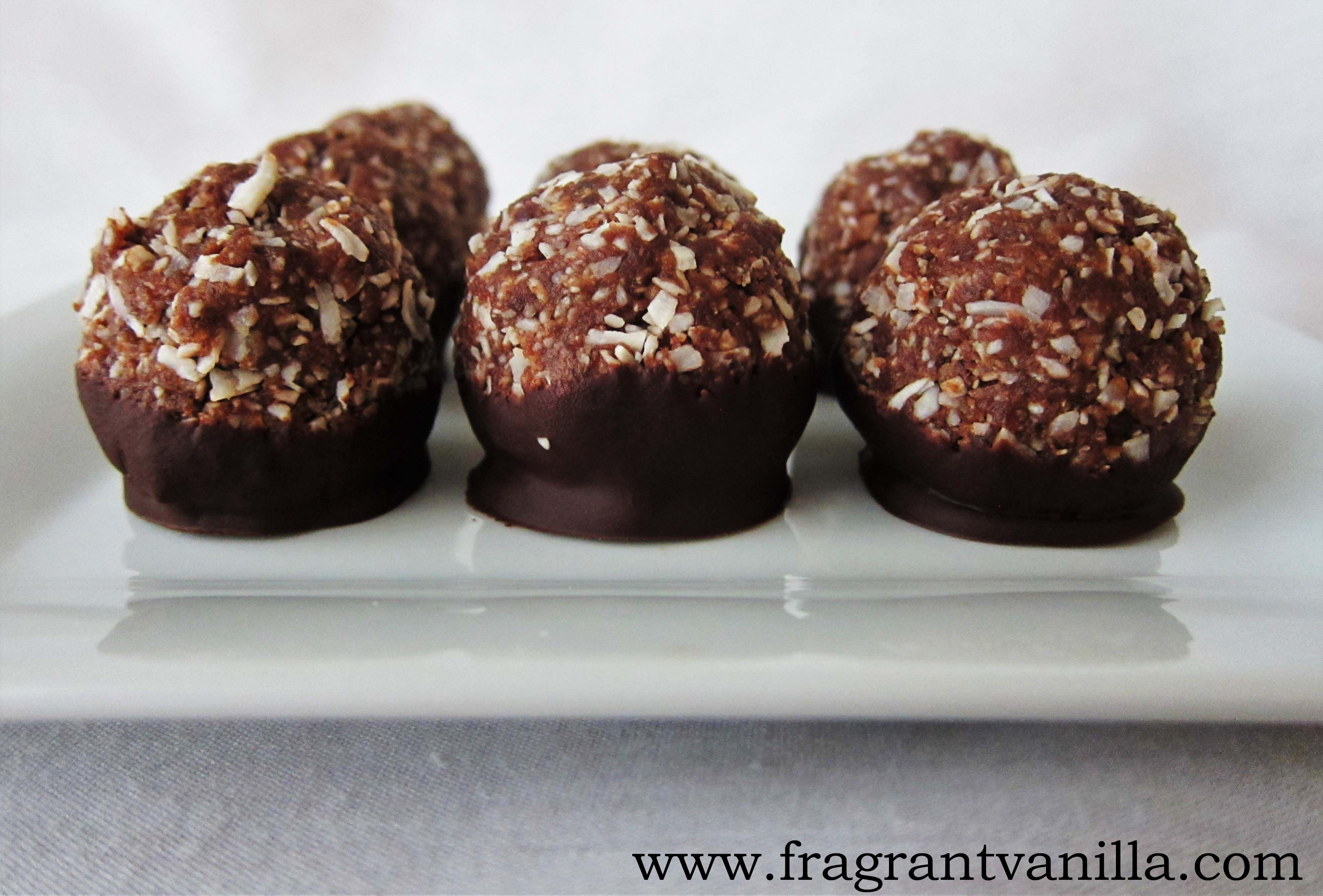 Raw German Chocolate Macaroons - I would make these without the ...
