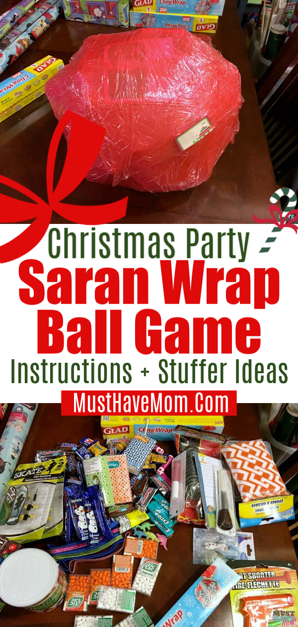 Saran Wrap Ball Game Fun Party Game Idea For Kids Or Adults On The Blog The Saran Wrap Ball G Kids Christmas Party Holiday Party Games Work Christmas Party