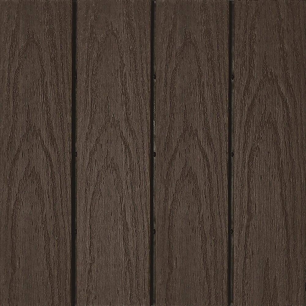 Newtechwood Ultrashield Naturale 1 Ft X 1 Ft Quick Deck Outdoor Composite Deck Tile Sample In Spanish Walnut Us Qd Zx Wn S The Home Depot Deck Tile Composite Decking Deck Tiles