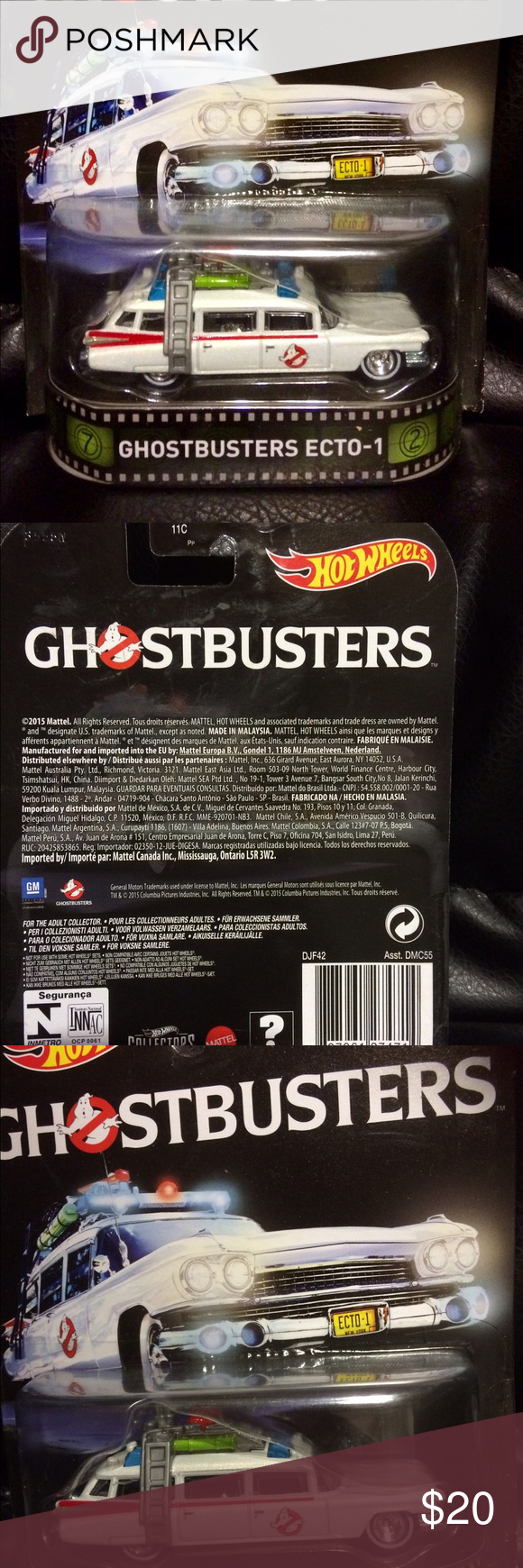 Ghostbusters Ecto-1 HotWheels NEW New and unopened . HotWheels Ecto-1 Ghostbusters car. Accessories