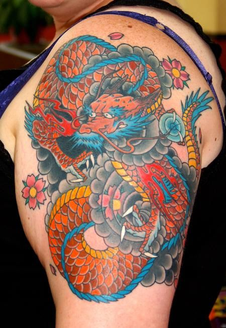 Arm Traditional Japanese Dragon Tattoos Designs Jpg 450 652 Japanese Dragon Tattoos Dragon Tattoo Designs Traditional Japanese Dragon