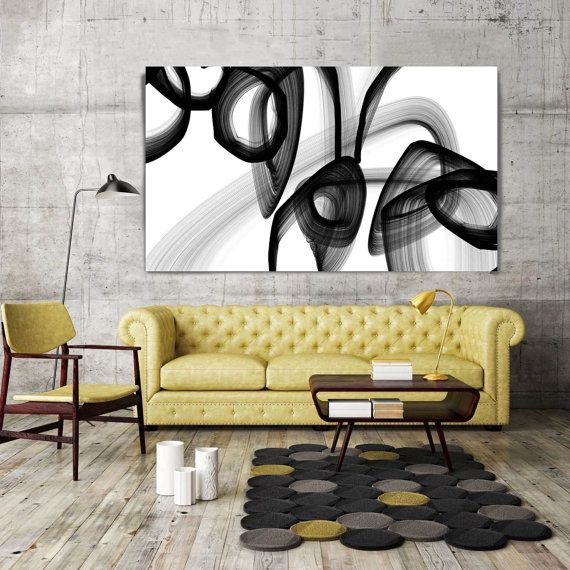 A Secret Code. Abstract Black and White, Unique Abstract Wall Decor ...