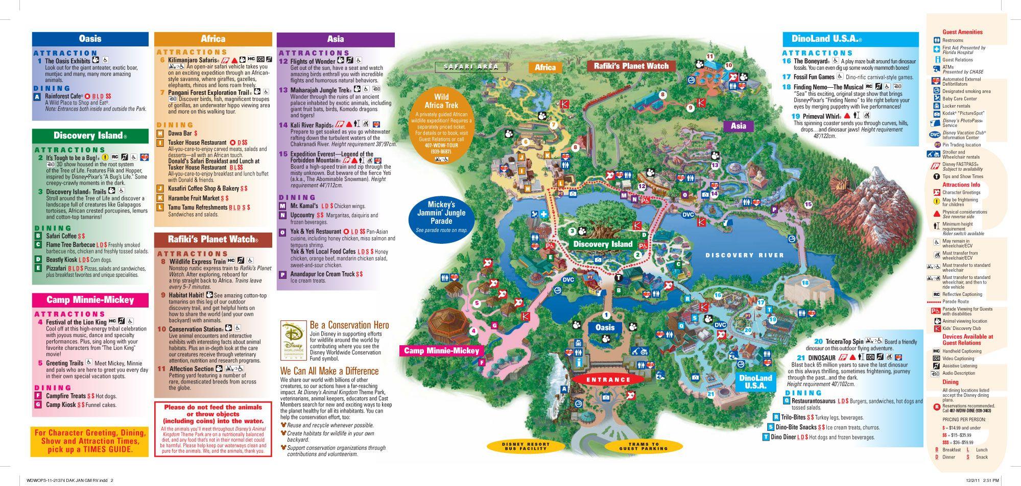 Animal Kingdom Map Disney World Map
