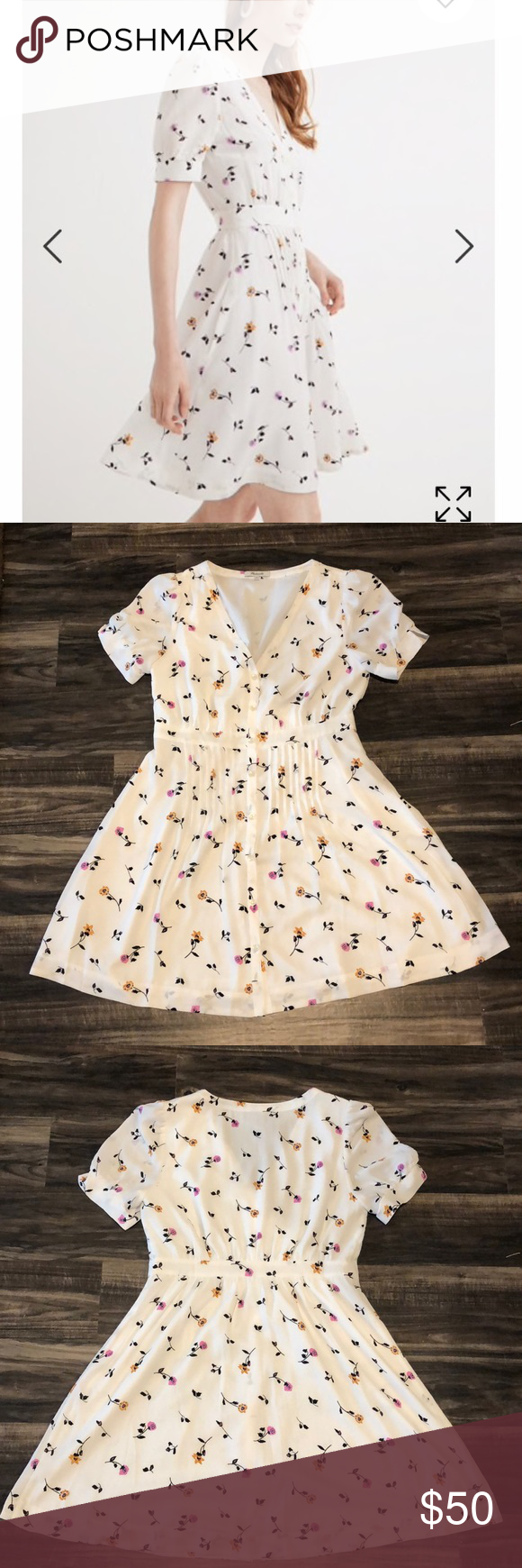 c1420f2ed28 Madewell Daylily Pintuck Dress in Sweet Blossoms Breezy dress with retro  vibes. Such a cute