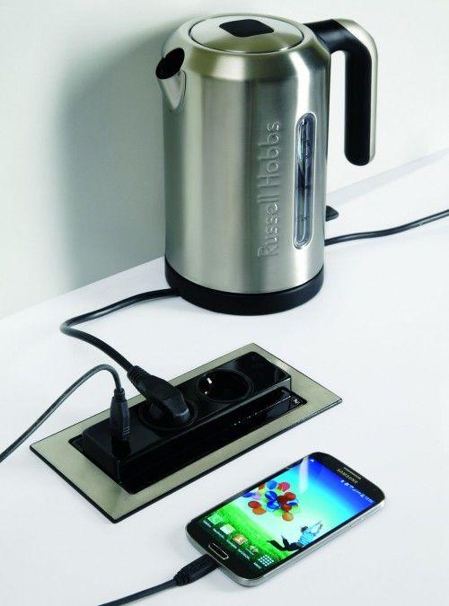 Nobilia - EVOline BackFlip mit USB-Charger- Nobilia Arbeitsplatten Zubehör - Küchen Geisler