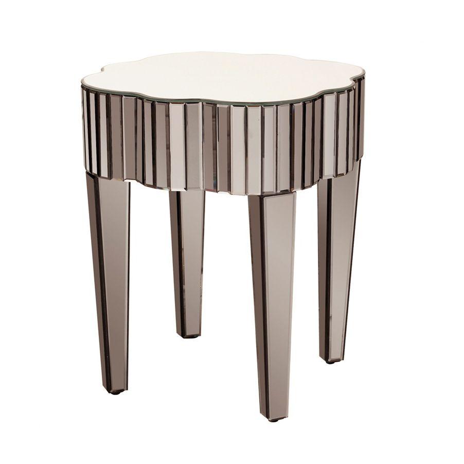 Art Deco Mirrored End Table | Dotandbo.com #DotandBoDream