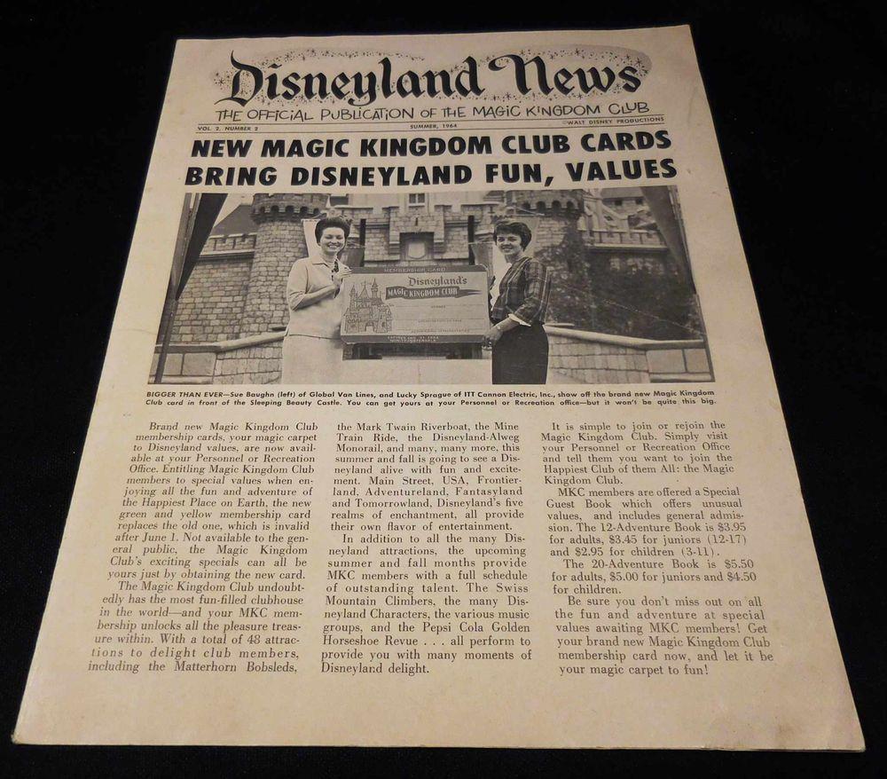 Vintage 1964 disneyland news magic kingdom club newsletter vintage 1964 disneyland news magic kingdom club newsletter publicscrutiny Choice Image
