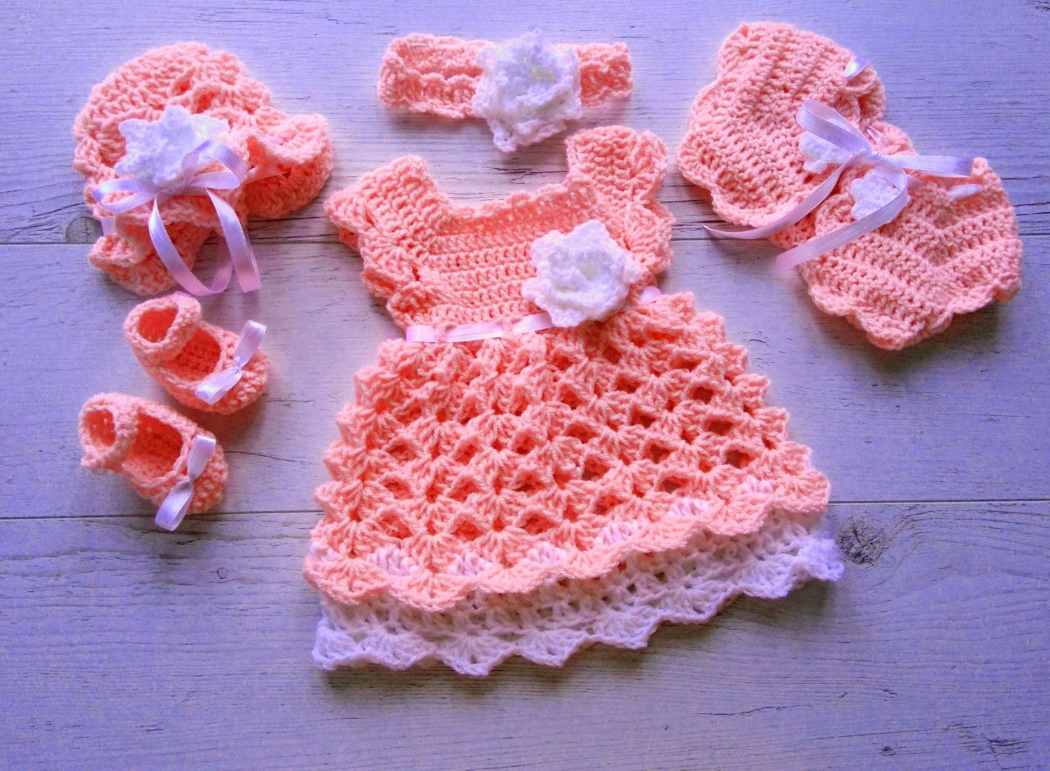 Newborn Take Home Outfit Baby Girl Coming Home Outfit in Peach Baby ...
