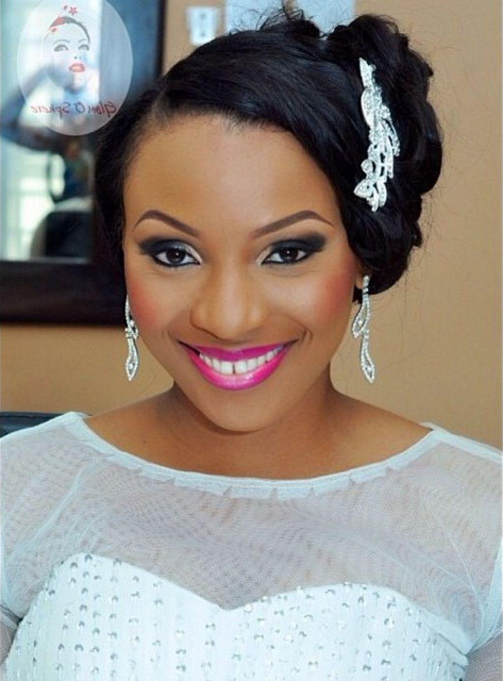 wedding hairstyles with tiara for black women   natural wedding