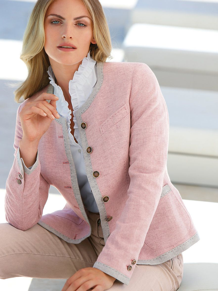 Country style jacket and blouse peter hahn jacket pale pink