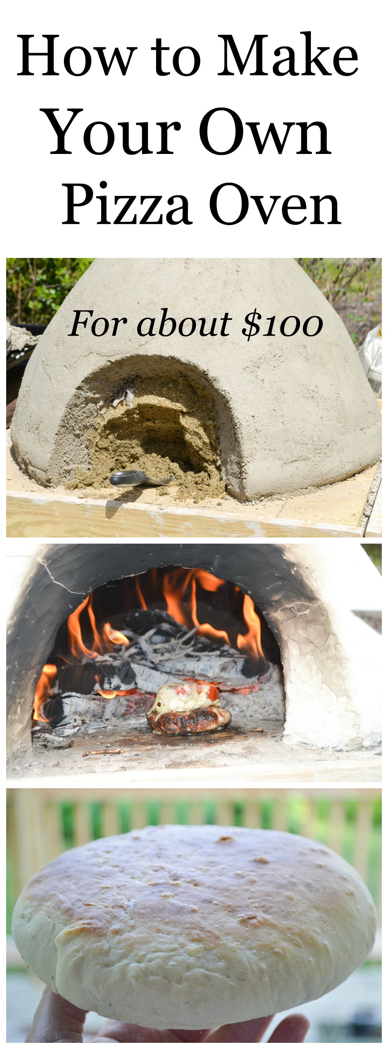 learn how to make a pizza oven for about 100 and fire bake chicken