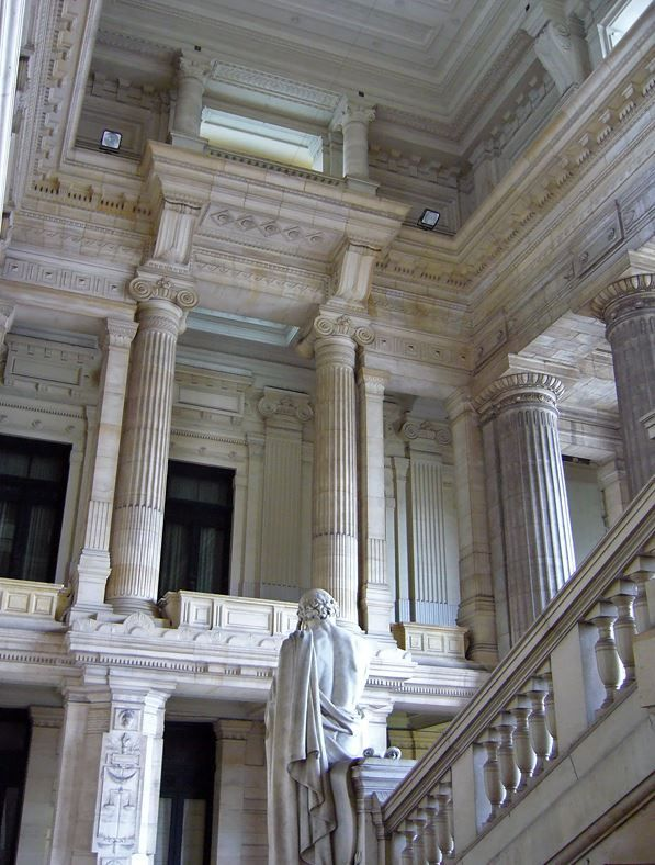 Belgium Brussels Palace Of Justice Romanesque Architecture Architecture Architecture Details Classical Architecture