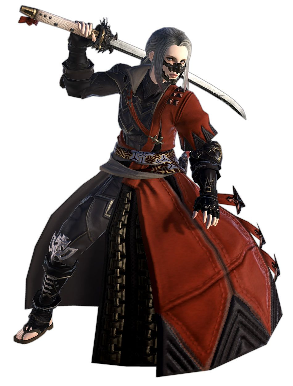 Samurai Render from Final Fantasy XIV: Shadowbringers #art #artwork