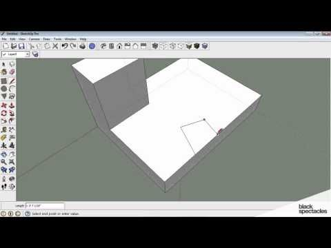 Sketchup Tutorial: Lines & Planes, Push & Pull, Selection, Groups | Black Spectacles - YouTube