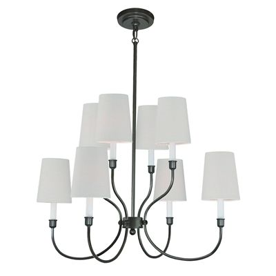 Langdon mills ch 5006 8 b moulin 8 light chandelier