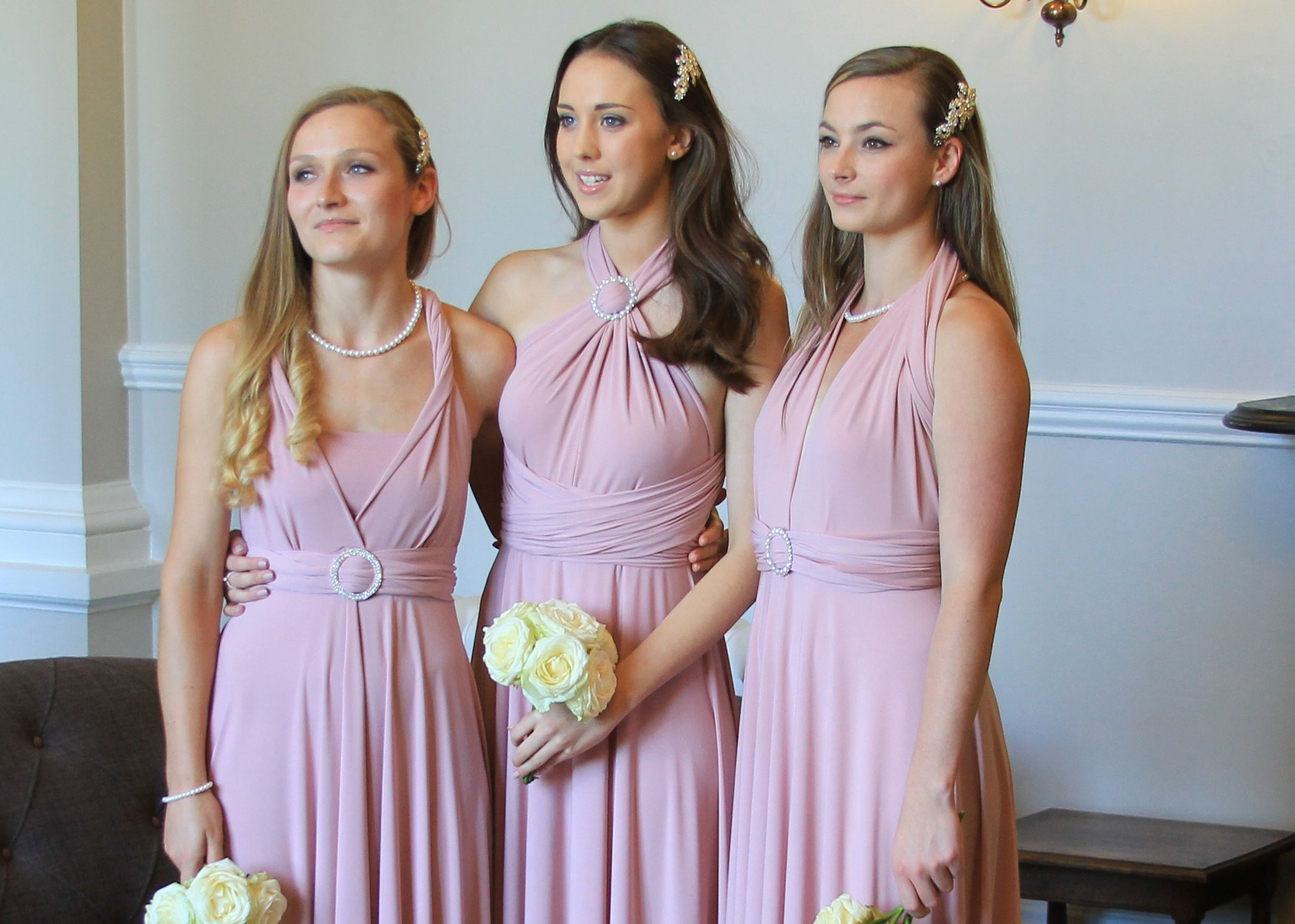 Dusky pink multi way bridesmaids dress from willowandpearl dusky pink multi way bridesmaids dress from willowandpearl ombrellifo Gallery