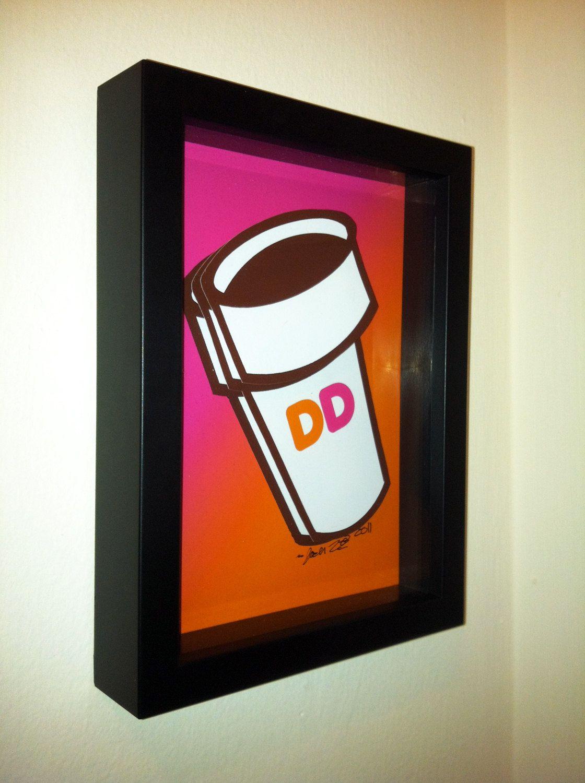 Dunkin Donuts Coffee Mug Art Coffee Cup Logo Pop art
