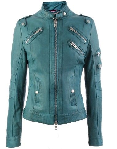 color/leather jacket