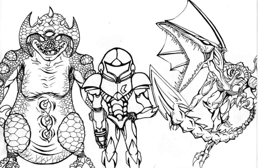 Metroid Coloring Pages