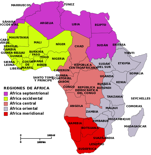 Map Of Africa Regions.Map Of African Regions Adornment Africa West Africa Map