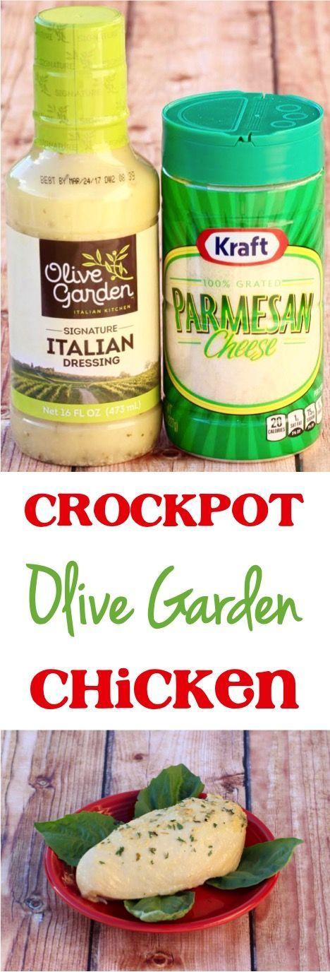 Crockpot Olive Garden Chicken Parmesan Recipe! Such an