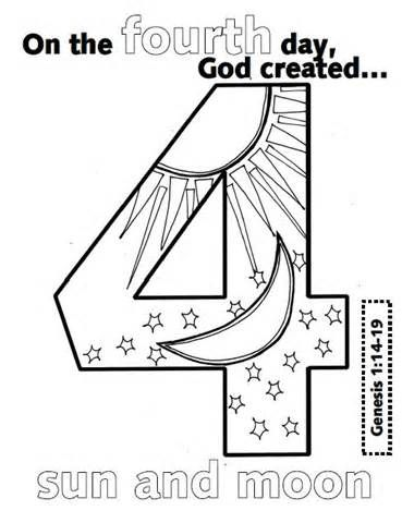 Creation Numbers With Images Sunday School Coloring Pages
