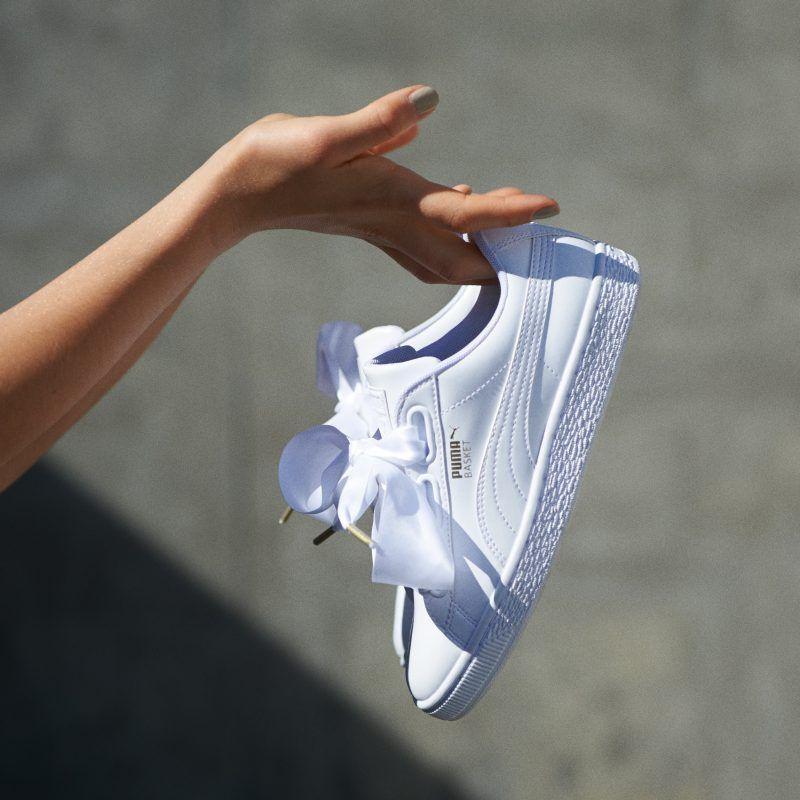 puma basket heart courir