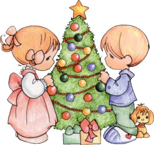 Dibujos coloreados de navidad de preciosos momentos para imprimir