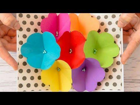 1 tarjeta pop up flores en 3d diy regalos f ciles y - Regalos faciles y rapidos ...