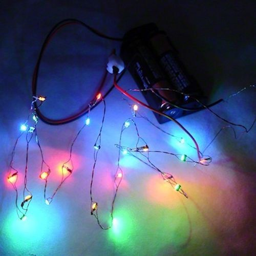 26 working color led christmas lights battery operated miniatures for dollhouse