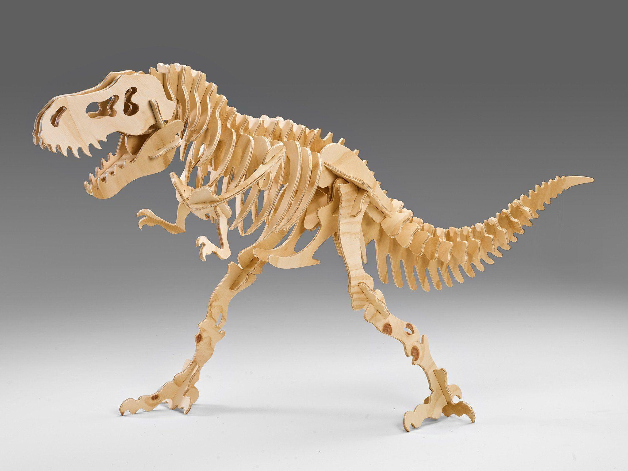 Attacking Tyrannosaurus Rex 3d Dinosaur Puzzle Wood Working