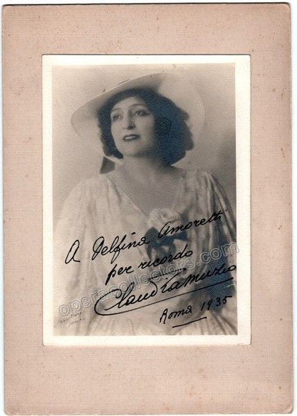 Muzio, Claudia - Signed Photo
