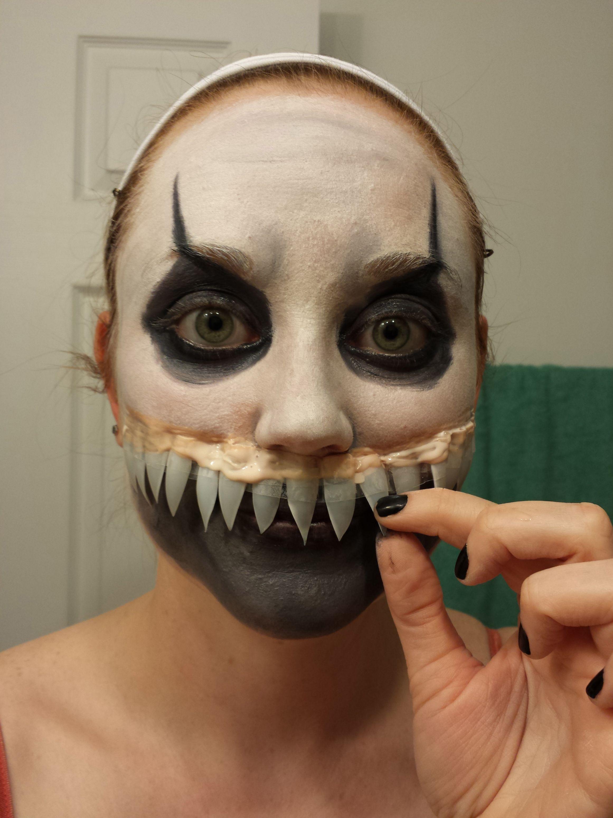 fake nails as teeth - Google Search | Halloween makeup ...