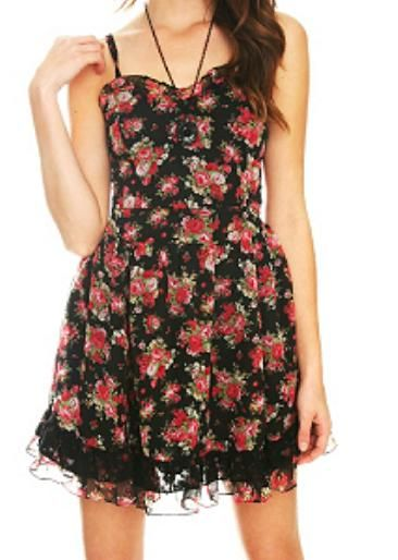 I used to hate flower dresses but obviously I don't anymore :D Love!