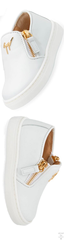 1ac29c9052538 Giuseppe Zanotti Girls' London Laceless Leather Low-Top Sneaker ...
