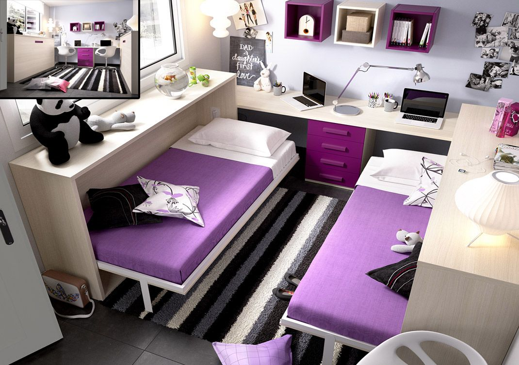 Los Mejores Muebles Para Dormitorios Infantiles Y Juveniles  # Muebles Pequenos