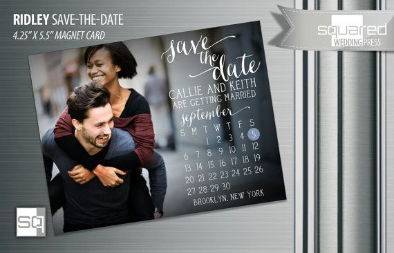 Formal Invitation Save the Date Magnet or Postcard Wedding Announcement Black tie Include your engagment photo DIY Calendar PDF