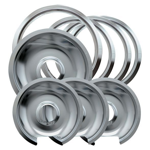 Chrome Drip Pans And Trim Rings For Ge Hotpoint Electric Stoves
