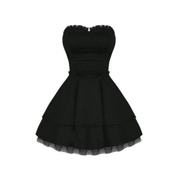Hearts and Roses London Strapless Black Lace Gothic Emo Mini Party... ($54) ❤ liked on Polyvore featuring dresses, black gothic dress, black party dresses, lace mini dress, black cocktail dresses and lace cocktail dress