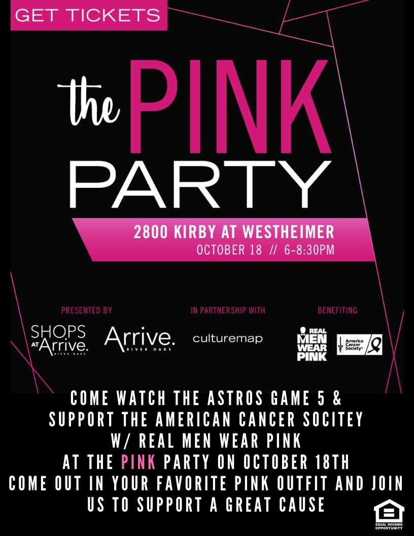 Can You Get An Apartment At 18 In Texas Help Us Support A Great Cause Come Decked Out In Your Favorite Pink Outfit And Watch The Astros Game 5 River Oaks Houston Pet Friendly Apartments Get Tickets