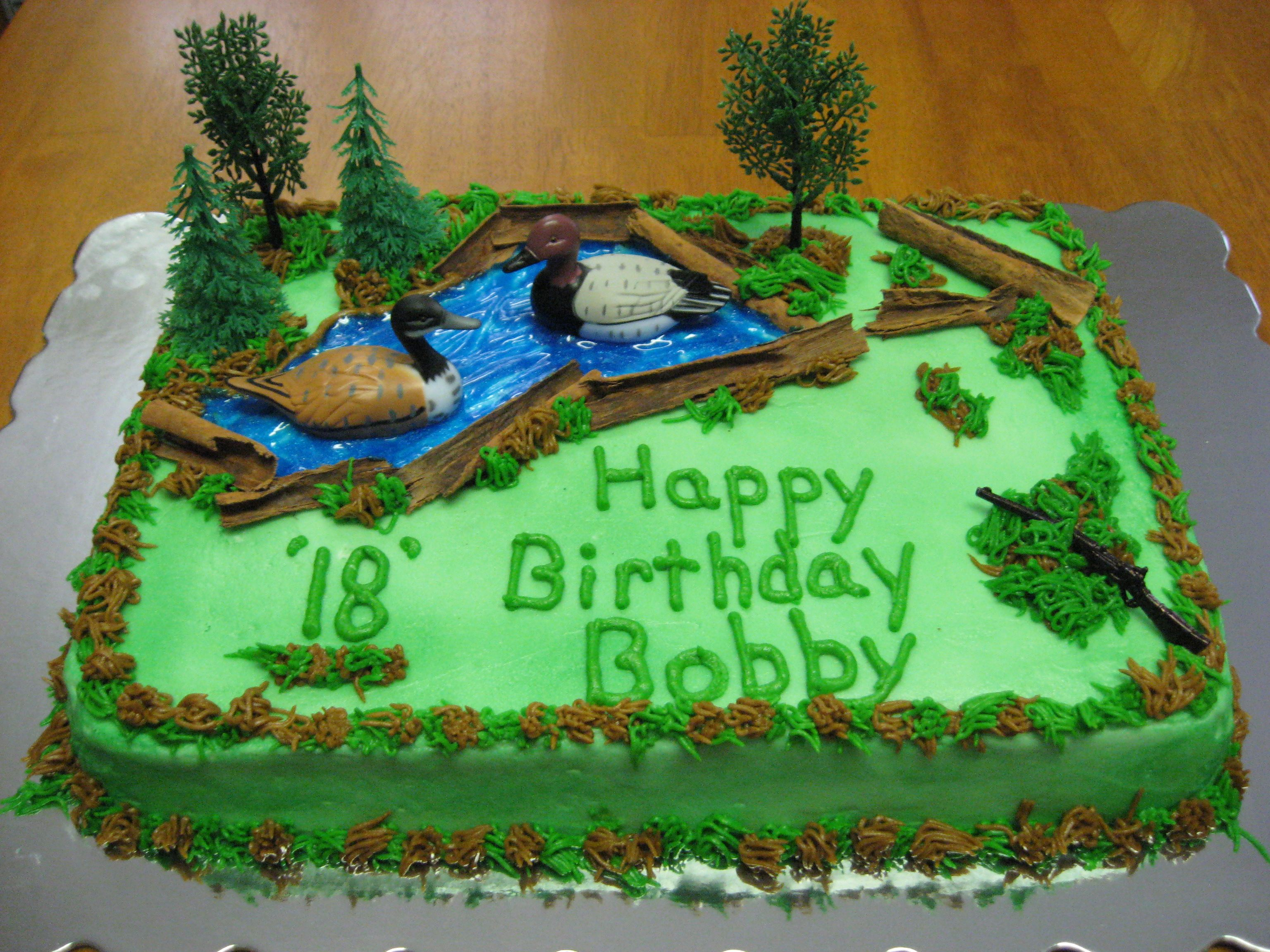 hunting cakes for boys birthdays Duck Hunting Cake cakes
