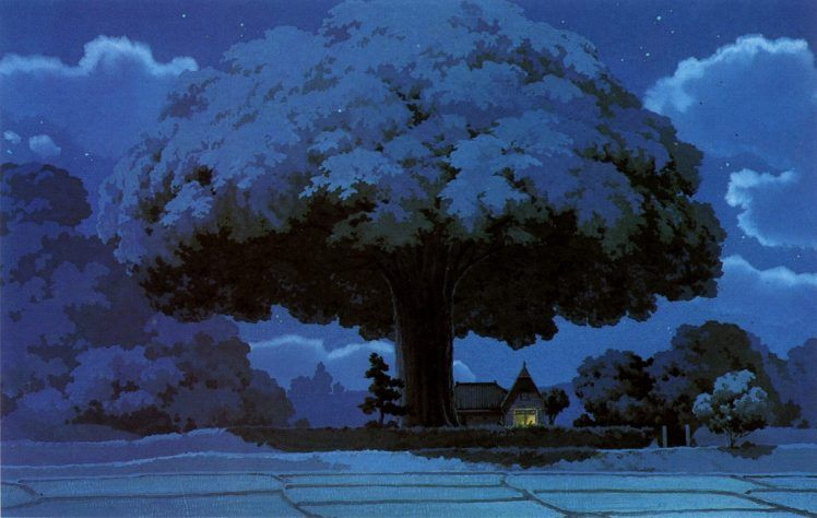Fantasy Art Totoro Anime Studio Ghibli Hd Wallpaper Desktop Background Studio Ghibli Background Studio Ghibli Ghibli